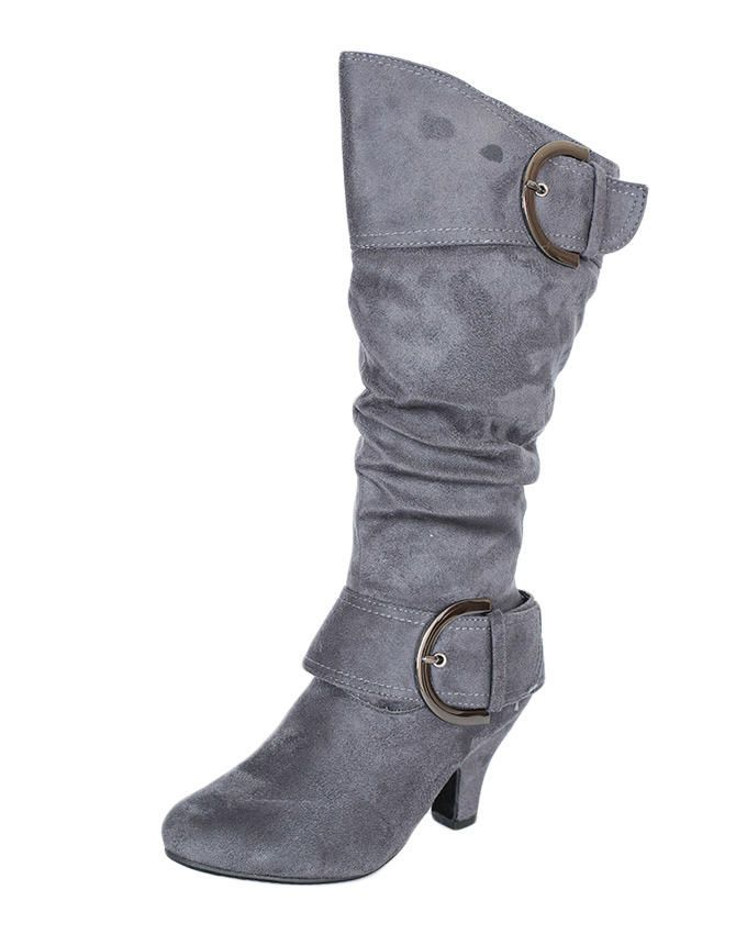 fashion sprout grey suede heel boots buy jumia