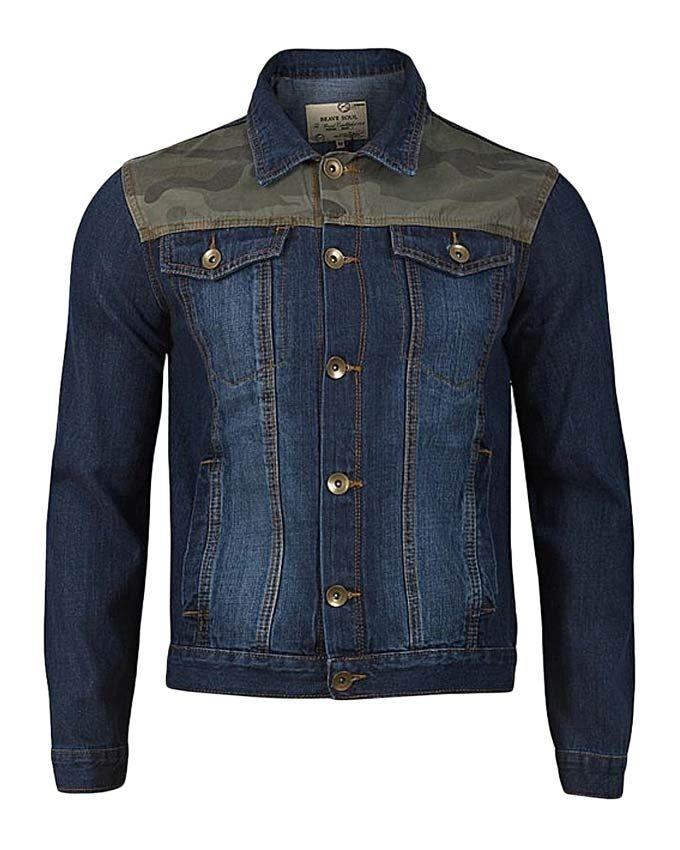 TMG FASHIONS Blue Mens Denim Jacket with Camouflage Detail | Buy online | Jumia Kenya