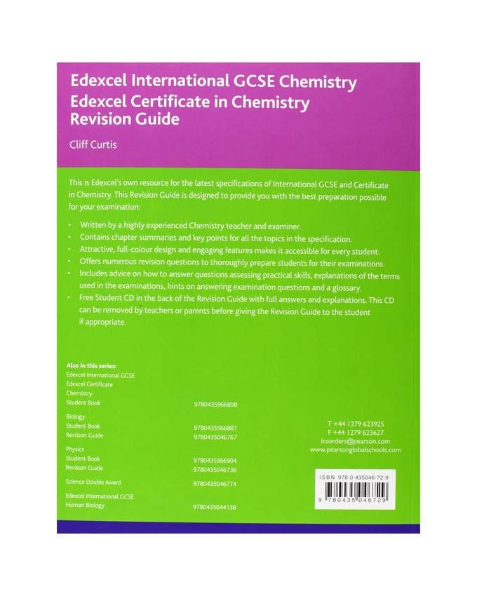 my igcse chemistry revision guide The cambridge igcse chemistry revision guide supports students through their course, containing specifically designed features to help students apply their knowledge as they prepare for assessment.