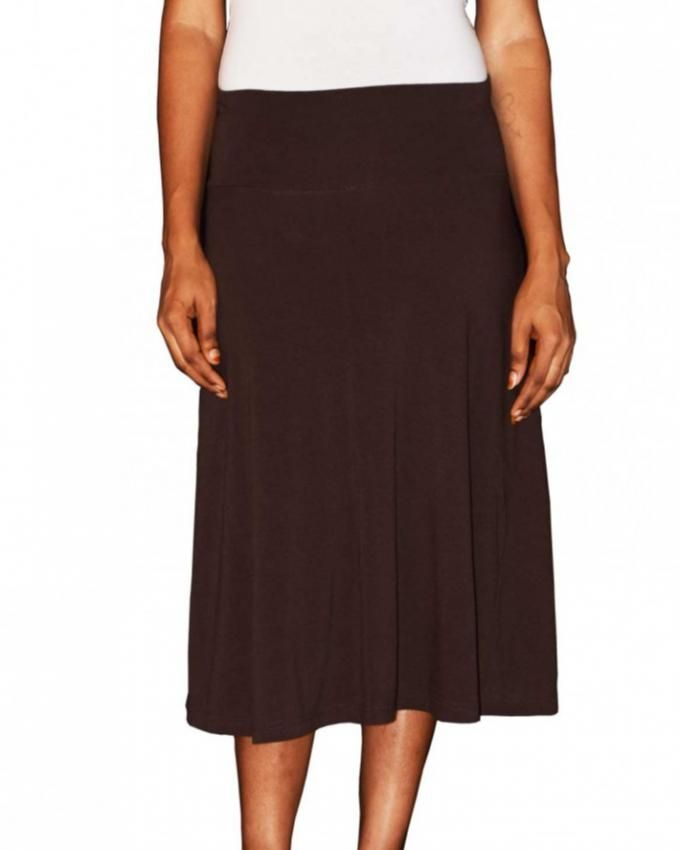 forever brown flowy a line skirt buy