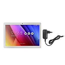 NOOMAI 10.1 inch 3G 2MP+5MP Camera 5000mah Tablet Bluetooth 4.0 With EU Plug-Silver & White