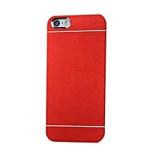 Blue Lans Metal Brushed Aluminum Back Case Cover (Red)