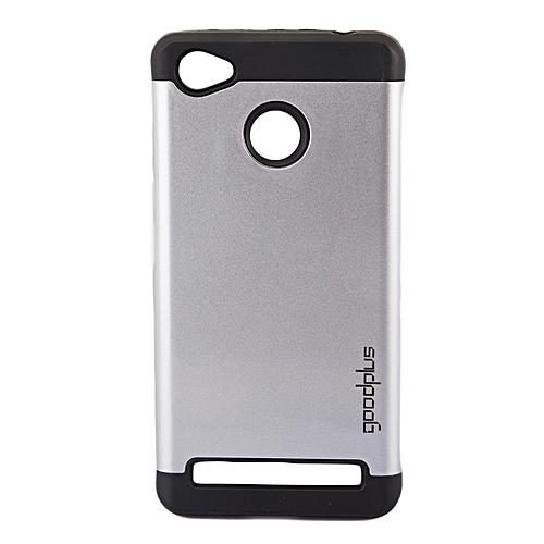 Techno W5 Back Cover- Armor case Silver
