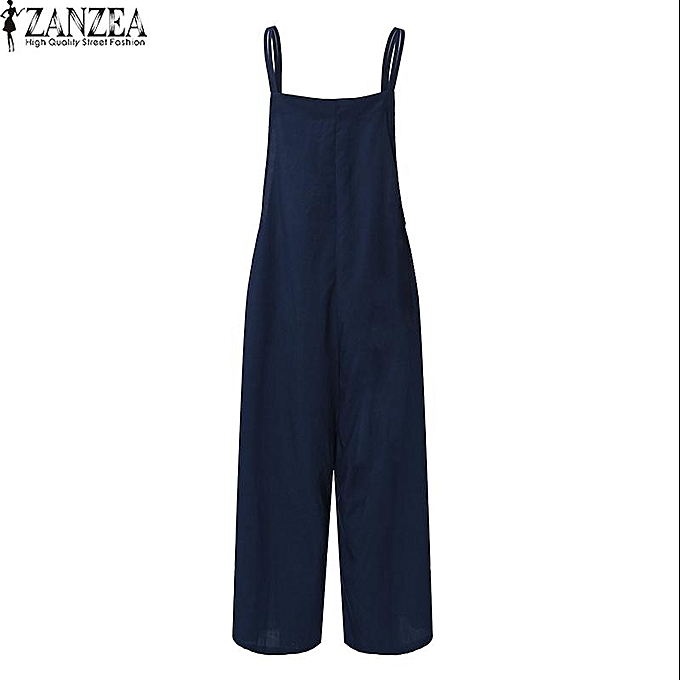d45f3138b917 ... ZANZEA Womens Sleeveless Wide Leg Jumpsuits Romper Overalls Summer  Ladies Casual Loose Harem Pants Trousers Plus ...