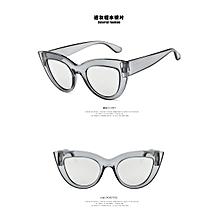 753097ca8d 2018 Fashionable joker style sunglasses retro cat eye sunglasses sliver