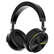 Bluedio T5 Active Noise Cancelling Wireless Bluetooth Headphone Portable Headset with Microphone BLACK