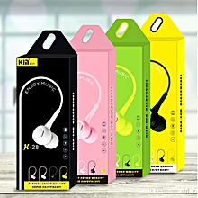 K28 In-ear Earphone with Mic Earbuds - BLACK