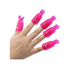 Gel Polish Remover Pegs - Pink -10 Pieces Per Pack