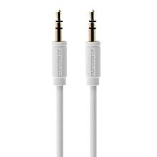 LinkMate-A1L Audio Cable:  Premium 3.5mm flexShield™ PVC coated copper White