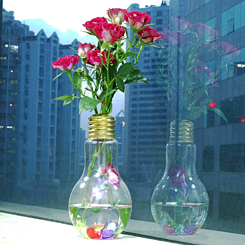 Buy Generic Glowing Light Bulb Shape Stand Plant Flower Vase