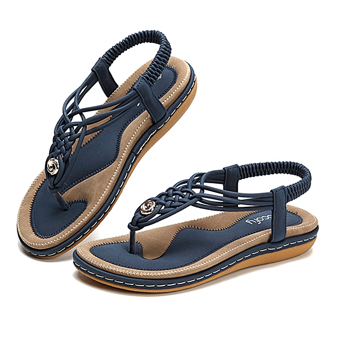 2fb02d28decc SOCOFY US Size 5-13 Women Shoes Knitted Casual Soft Sole Outdoor Beach  Sandals