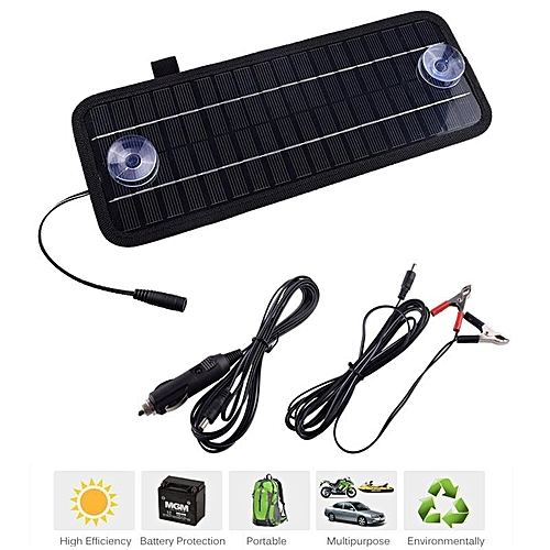 LEORY Hot 12V 4 5W Solar Panel Portable Monocrystalline Solar Charger  Module For Car Automobile Boat Rechargeable Power Battery