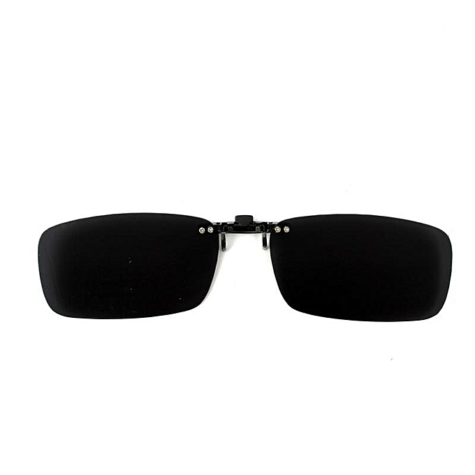 da231c23db755a 2PCS Driving Polarized UV 400 Lens Clip-on Flip-up Sunglasses Glasses Black+