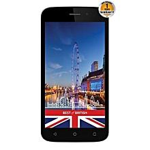 ALPHA - 5.0'' - 8GB - 1GB - 8MP Camera - Dual SIM - 3G - Black/Gold + Free Silicone Case.