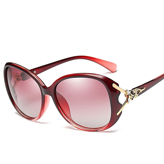 6881613242 New ladies polarized sunglasses classic fox head sunglasses glasses-wine
