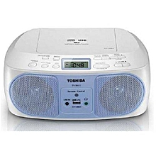 TY-CRU12 -CD/MP3/FM Radio - Remote - USB - Blue& White