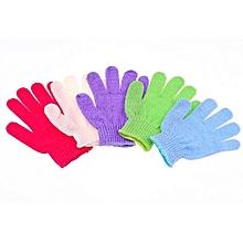 Fohting 5Pcs Shower Gloves Exfoliating Wash Skin Spa Bath Gloves Foam Bath Skid Resistance Body Massage Cleaning Loofah Scrubber -Multicolor