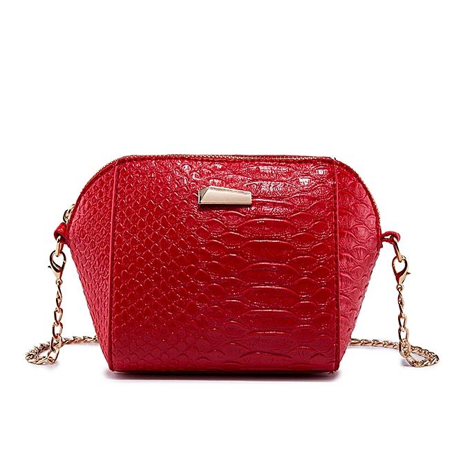 Tectores Fashion Trend Women Crocodile Grain Crossbody Bag Shoulder Bag  Phion Coin Bag Red Gift 20437c9fcba00