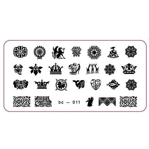 buy zlime pattern diy nail art image stamp stamping plates manicure