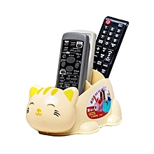 Cat Themed TV Remote Holder - Yellow