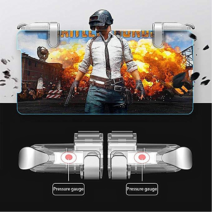 1Pair High quality Metal Mobile Game Controller and joystick,Gamepad  Survival Game Triggers for PUBG/Fortnite/Rules of Survial, Game grip with