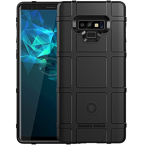 size 40 0d0e2 c3c91 Galaxy Note 9 Case,Rugged Shield Silicone Heavy Duty Armor Shock-Proof  Protective Case Cover