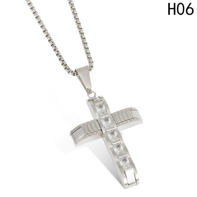 Fashion titanium diamond studded cross pendant male and female titanium diamond studded cross pendant male and female cross necklace pendant peals necklace aloadofball Images