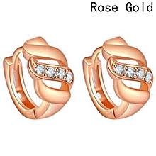 Top Quality New Diamonds 18K Gold Plated Ear Hook Stud Earrings Jewelry Trendy Jewelry Women Accessories