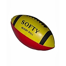 Rugby Softy Ball (60431) - Size 3 - Red & Yellow