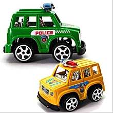 Hot IBERL 2pcs/set HOT Cute Mini Toy Cars Plastic Mini Police Car Model  Birthday Gift Toys for Child Boys and Girls Safe