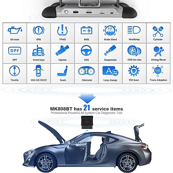 Autel MaxiCOM MK808BT OBD2 Scanner Car Diagnostic Tool Automotive Diagnosis  Functions of EPB/IMMO/DPF/SAS/TMPS