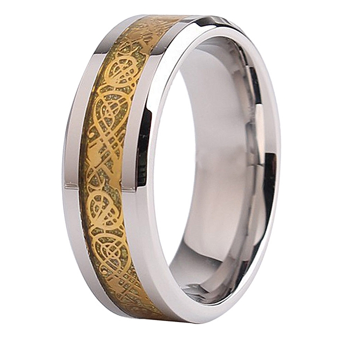 bluerdream-1PC Mens Dragon Scale Ring Rings Jewelry Wedding Band 18K Gold  US 11- db3d2b9f110a