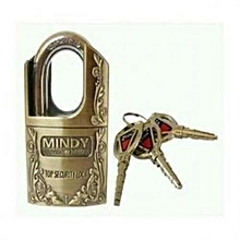 Top Security Padlock  - Goldish Brown