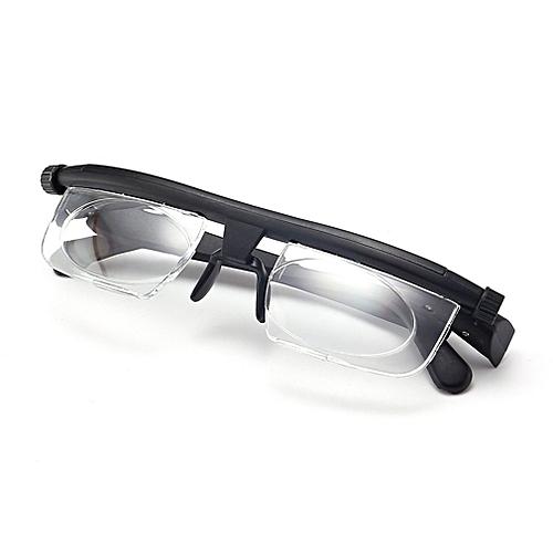 5e00f84bad Allwin Adjustable Focus Glasses Non-Prescription Lenses Magnifying Unisex  Glasses Black   Best Price