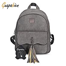 Guapabien Preppy Style Tassel Pendant Backpack for Women