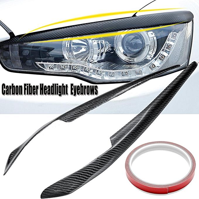 Buy Generic 1 Pair Carbon Fiber Headlight Eyelids Eyebrows For
