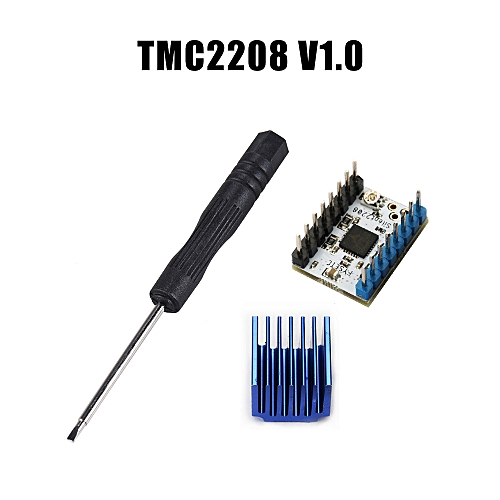 1pc TMC2208 V1 2 Stepper Motor Mute Driver Module with Heat Sink Replace  TMC2100 for 3D Printer Parts