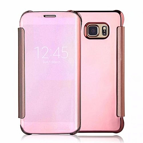 UNIVERSAL Fashion Clear View Mirror Screen Flip Case Cover For Samsung Galaxy A5 (Color:Rose Gold)