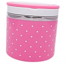 One Layer Plastic Lunch Box - Pink - 800ml
