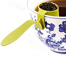 Tea Strainer Herbal Spice Infuser Filter Clip-On Teaspoon Colander 1pc