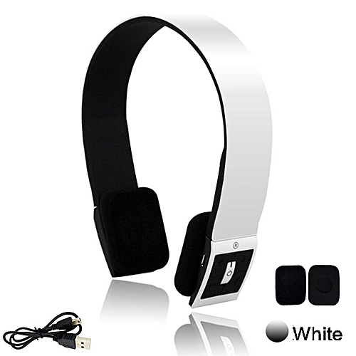 c860a57e7f4 Generic Wireless Bluetooth Headphones BH23 Earphone Headset Noice Canceling  With Mic for Ios Android Smartphone Table PC(White)