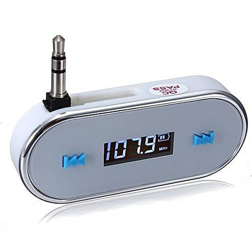 watch 0ff8b f7853 3.5mm Wireless Car Audio Radio FM Transmitter for iPhone 6 6s plus 5s 5c  Samsung White YKDQ-S