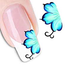 Fancyqube  Nail Art Sticker Water Transfer Stickers 3D Decoration Flower Decals Tips