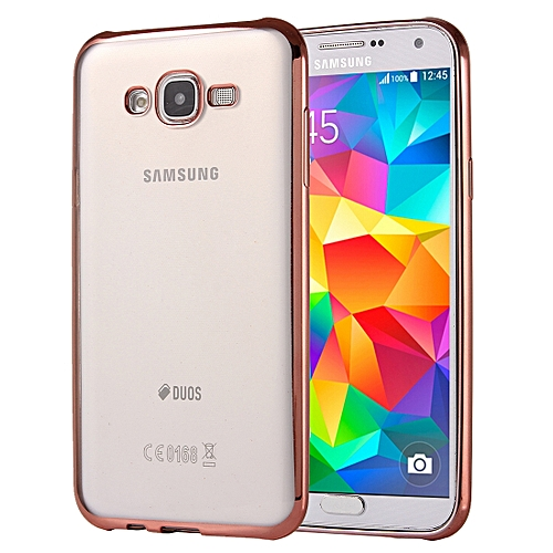size 40 e45f7 4ea82 For Samsung Galaxy Grand Prime / G530 Electroplating Soft TPU Protective  Cover Case (Rose Gold)