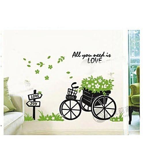 generic wall sticker - bike with plants @ best price   jumia kenya