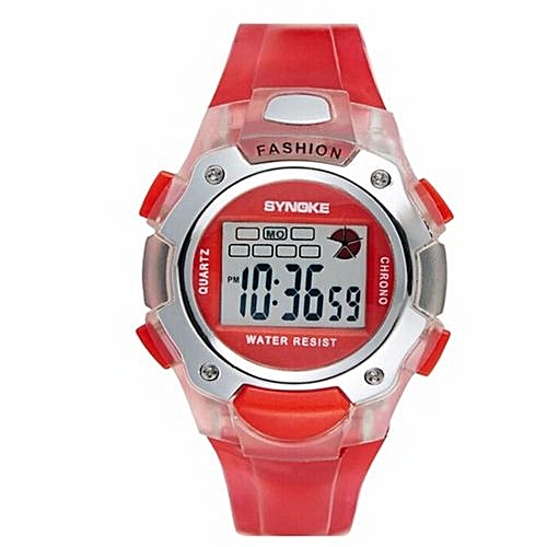adc5c6222 Synoke LED Digital Watch Children Girls Wrist Watch Kids Watches Boys Clock  Child Sport Digital-watch For Girl Boy Surprise Gift(Red)
