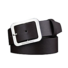 Mens Belts New Fashion Casual Black Buckle Coffee Leather Brown Waist Strap