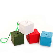 Mini Portable Cube Stereo Wireless Bluetooth Speaker for SmartPhone Tablet PC AG-Army Green