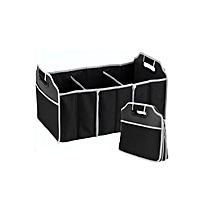 Car Boot Compartment Organiser - Black