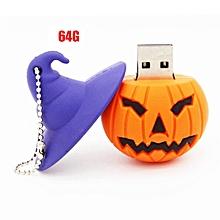 Halloween Pumpkin USB Flash Drives High Speed USB2.0 Storage Mini Device Orange